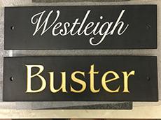Black Slate  Stable Door Horse Name Plaque.              Size : Width 12